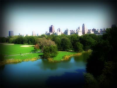 View from Belvedere Castle in Central Park  New York